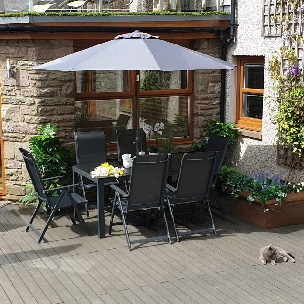 Sorrento 6 Rectangular Garden Furniture Set By Aestas