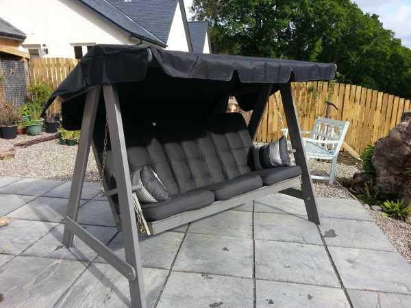 dalom swing detail view  click to enlarge  dalom deluxe grey swing seat hammock  rh   gardenfurnitureengland co uk