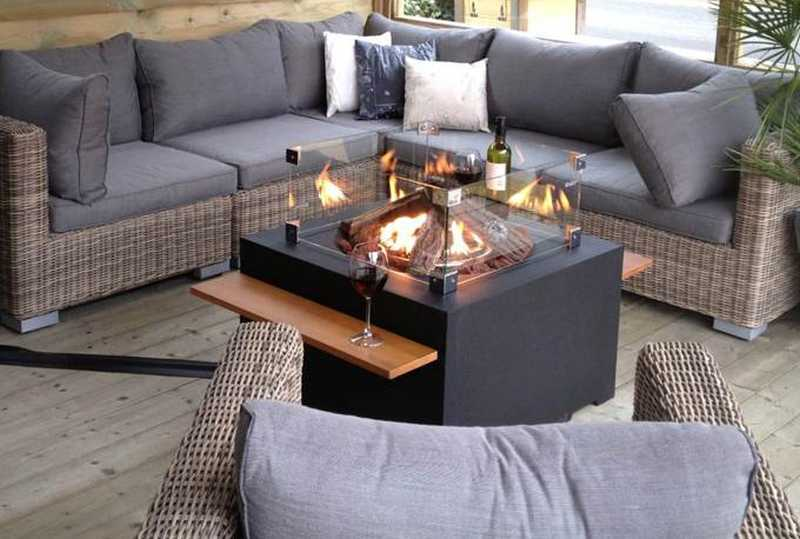 Happy Cocooning Square Gas Fire Pit