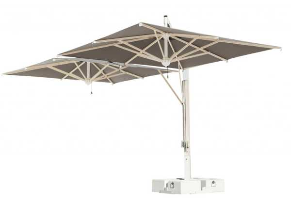 Scolaro milano double cantilever parasol - Parasol double pente ...
